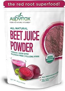 Alovitox Organic Beet Juice Powder 16 oz Raw Vegan & Gluten Free (Beet Juice Powder, 16 oz)