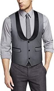 COOFANDY Men's Double Breasted Suit Vest,Slim Fit Business Formal Dress Waistcoat