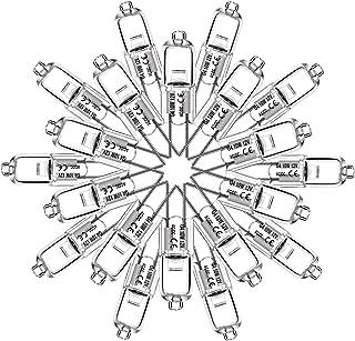 20 X Eande Bombillas Halógenas G4 10W Lámparas Halógenas de Cápsula 12V 2 Pines 140LM Regulable Luz Blanca Cálida 2800K Foco para Salón Coche Cocina Escritorio Candelabro
