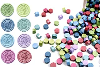 UNIQOOO Arts & Crafts 180 Mixed Color Box Sealing Wax Beads Nuggets for Wax Seal Stamp -Green Turquoise Blue Lavendar Wine - for Cards Envelopes, Wedding Invitations, Wine Packages, Gift Wrapping