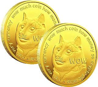 Chagoo Pièce de Monnaie Dogecoin, pièces d'or Dogecoin, pièce commémorative Dogecoin (Or)