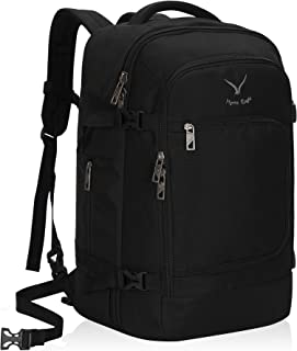 Hynes Eagle Travel Backpack 40L Flight Approved Carry on Backpack, Black-2018