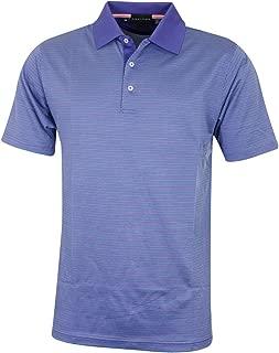 Bobby Jones Mens Performance Blend Star Jacquard Golf Polo Shirt