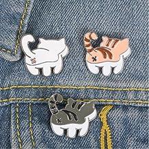 【ディアーアニマルズ】 猫 ねこちゃんエナメルピンバッジ 3個セット ピンバッジ ブローチ