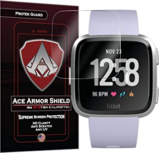 Fitbit Versa Screen Protector Version 1 Edge to Edge (Including Corners) (6-Pack) Ace Armor Shield Full Coverage Screen Pr...