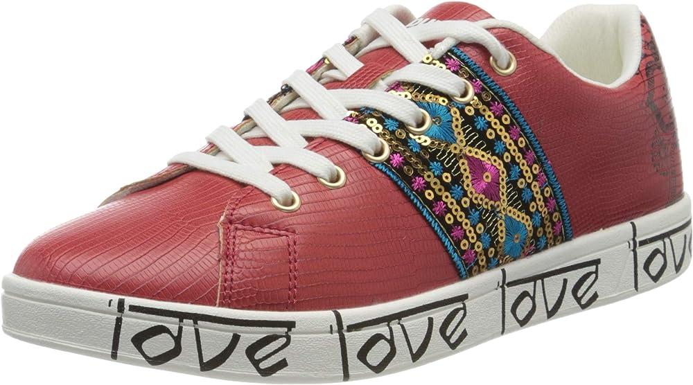 Desigual, scarpe sneakers da donna, in pelle sintetica 20SSKP26306137