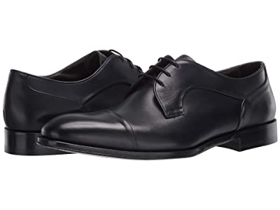 Canali Calfskin Cap Toe Oxford (Blue) Men