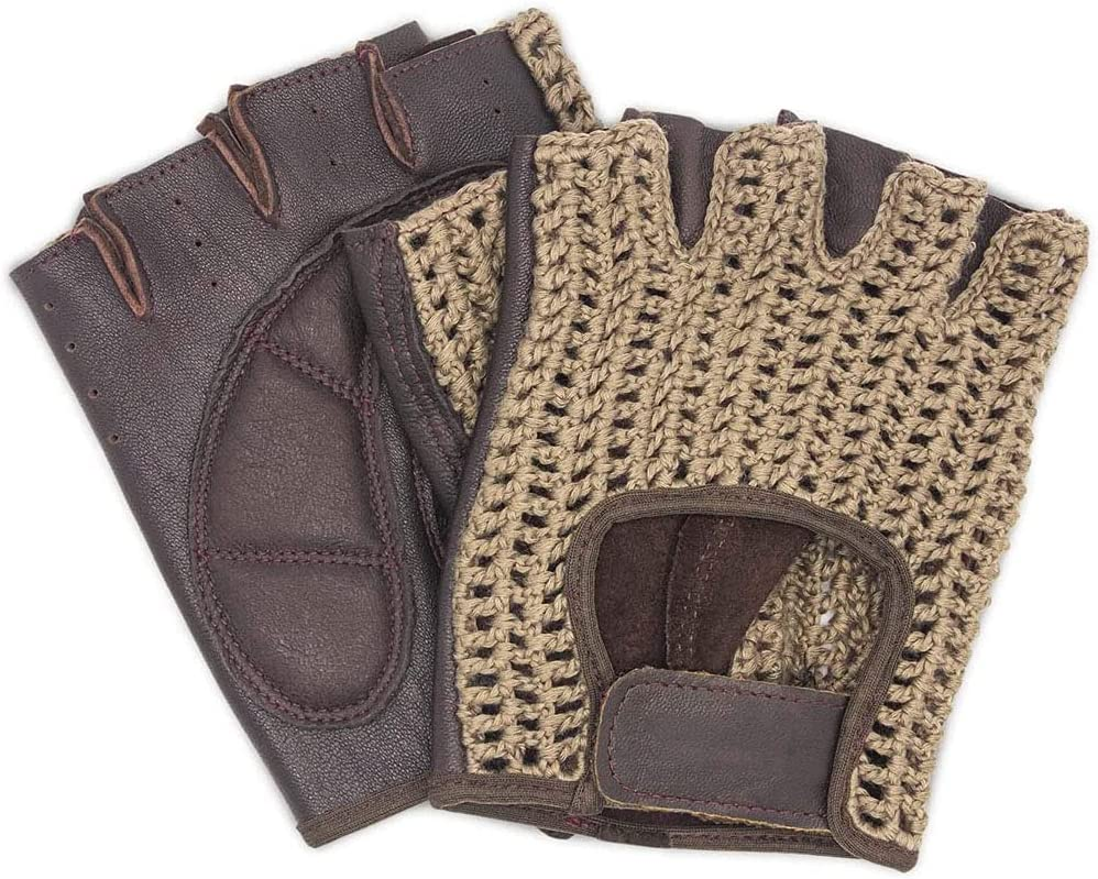 Knitted Leather Workout Max 75% OFF Gloves for Women L Ranking TOP8 Men Weight - Padded