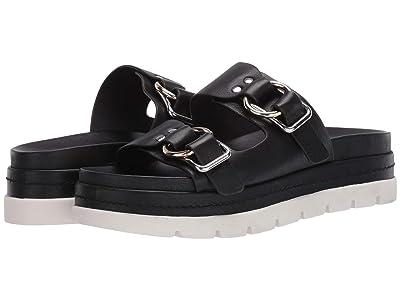 J/Slides Baha (Black Leather) Women