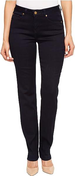 "Five-Pocket 33"" Straight Leg Dream Jeans in Midnight"