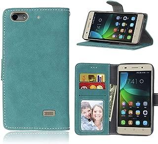 Sangrl Libro Funda para Honor 4C / Huawei G Play Mini, PU Cuero Cover Flip Soporte Case [Función de Soporte] [Tarjeta Ranuras] Cuero Sintética Wallet Flip Case Azul