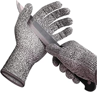Cut Resistant Gloves, High Performance Level 5, Protection Safety Work Gloves, Food Grade Cut-Proof Kitchen Safety Glove (XL)