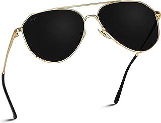 نظارات شمسية الطيار ذات إطار معدني متوسط مستقطبة من WearMe Pro - تصميم عصري