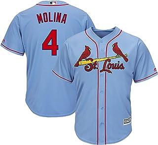 تي شيرت شبابي من Yaider Molina St. Louis Cardinals 8-20 أزرق فاتح يحمل اسم اللاعب ورقم اللاعب (طفل 3T)