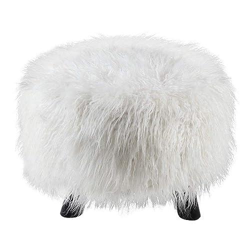Incredible Fur Pouf Amazon Com Theyellowbook Wood Chair Design Ideas Theyellowbookinfo