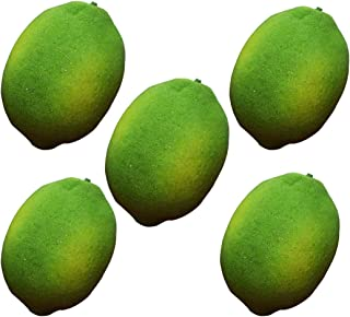 Artificial Limes Lifelike Fake Green Lemon Simulation Fruits For Home Kitchen Decoration 5pcs