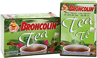 Broncolin Tea, Natural Remedy, Herbal Tea made with Plant Extracts, Helps Soothe an Irritated Throat, 2-Pack of 25 Tea Bag...