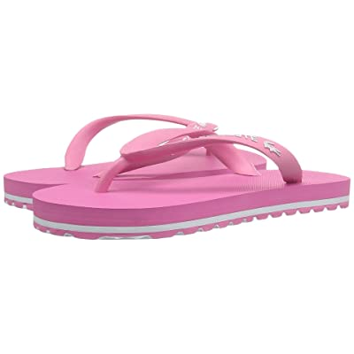 Lacoste Kids Nosara 118 1 CAC (Little Kid) (Pink/White) Girl