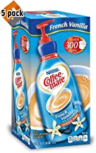 Nestle Coffee-mate Coffee Creamer, French Vanilla, 1.5L Liquid Pump Bottle, 50.7 Fl Oz (Pack Of 5)