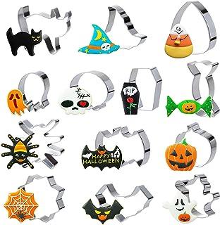 GWHOLE Lot de 13 Emporte-Pièces de Halloween Moule à Biscuits Patisserie Decoupoir Coupe-pâtes Forme de Chauve-Souris Citr...