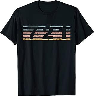 721 Area Code Retro Sint Maarten Caribbean T-Shirt