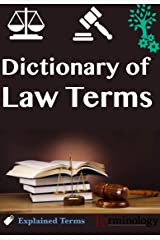 Dictionary of Law Terminology (English Edition) Format Kindle