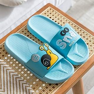 Sandals and slippers women summer cartoon non-slip couples home indoor bathroom bath slippers for men-Light blue_44-45