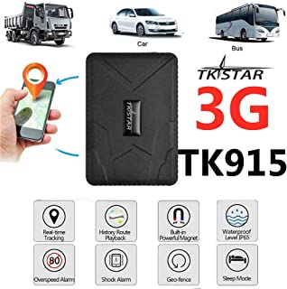 TKSTAR Hidden Vehicles 3G GPS Tracker, Waterproof Real Time Car GPS Locator Anti Theft Alarm Tracking Device Strong Magnet for Motorcycle Trucks Support Android and iOS (915 3G)