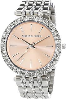 Michael Kors Darci Women's Peach Dial Stainless Steel Band Watch - MK3218