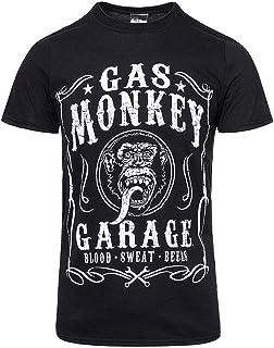 8ec269262f20a Gas Monkey Men's Black Jack Daniels Style Tee Shirt - Medium