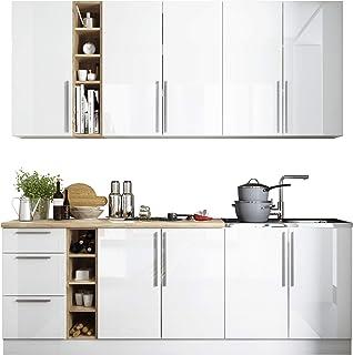 Mirjan24 Küche Harmony 220 Cm, Mit Arbeitsplatte, Küchenblock/Küchenzeile,  8 Schrank