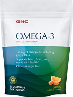 GNC Omega-3 Soft Chews - Citrus