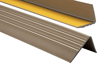 ProfiPVC Zelf klevende PVC trap neus - trapprofiel van getest PVC, anti-slip, 50x40mm 100cm, Messing