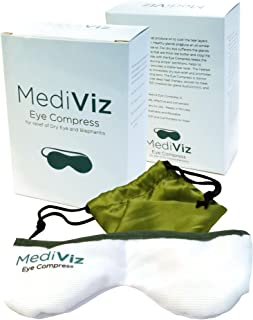 Mediviz Blepharitis Dry Eye Mask - Relieving Dry Eye Moist Heat Compress for Dry Eye, Styes, Meibomian Gland Dysfunction, Headaches, Sinuses, and Allergies (ORIGINAL)
