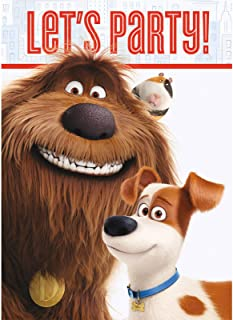 The Secret Life of Pets Party Invitations, 8ct