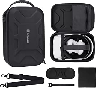 KIXAR VR Hard Carrying Case for Oculus Quest 2 VR Headset, Elite Strap, Controllers Accessories, Shockproof/Portable Cover...