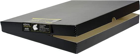 Lineco 16x20 Black Clamshell Archival Folio Storage Box, 1.75