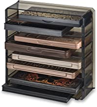 byAlegory Acrylic Medium Eyeshadow Palette Makeup Organizer With Removeable Dividers Designed To Stand & Lay Flat | 8 Spaces Fits Medium Size Palettes