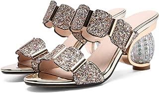 Genius-route-store 2019 Fashion Summer Ladies Slippers Elegant Comfortable Rhinestone Prom Wedding Shoes Women Mules Black