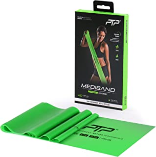 PTP MediBand Resistance/Pilates Band with Exercise Poster, Green, Medium