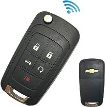 Replacement Keyless Entry Flip Folding Key Fob fit for 2010 2011 2012 2013 2014 2015 2016 2017 Chevy Chevrolet Camaro Cruz...