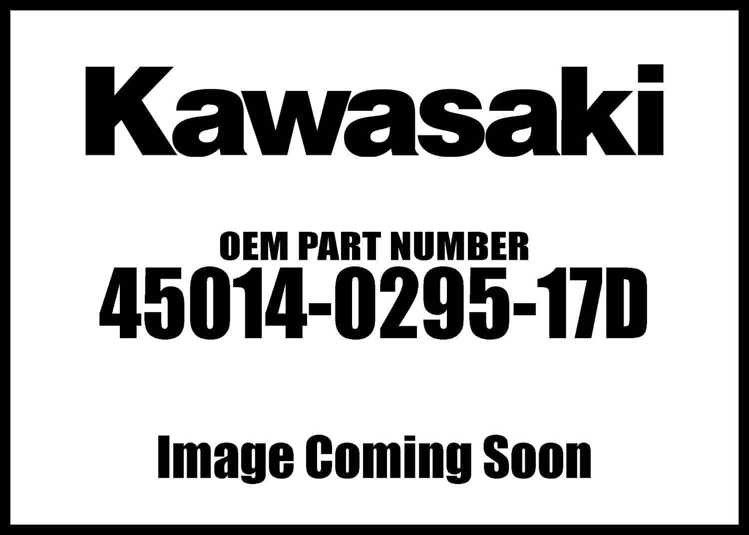 Gifts Kawasaki 2010 Our shop OFFers the best service Kx450f Shockabsorber Black 45014-0295-17D Oem New