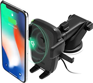 iOttie Easy One Touch Wireless Qi Fast Charge Car Mount Kit || Fast Charge: Samsung Galaxy S10 S9 Plus S8 S7 Edge Note 8 5...