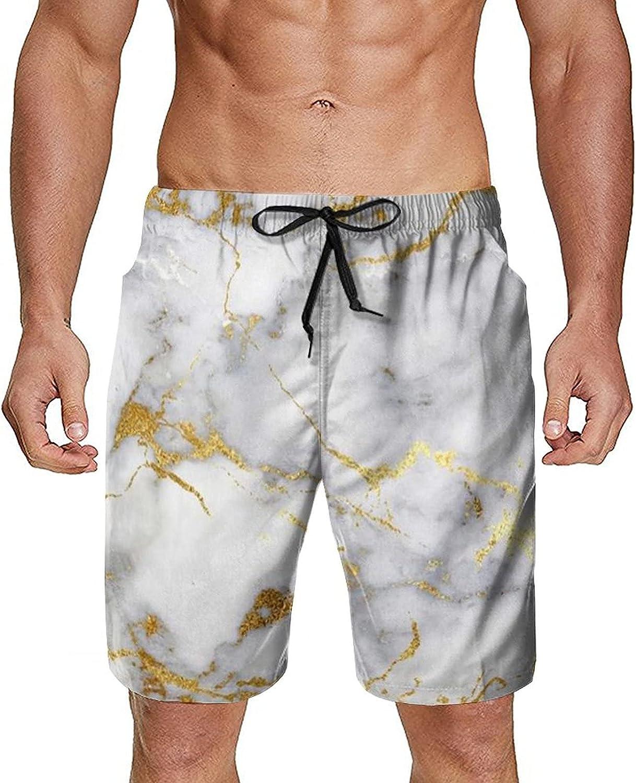 NiYoung Men's Funny Swim Trunks Drawstring Elastic Waist Quick Dry Bathing Suits