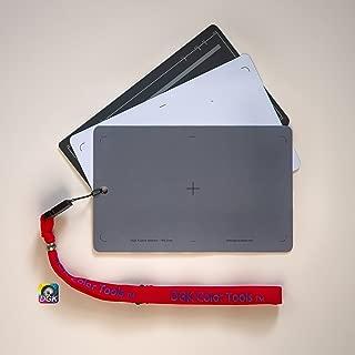 DGK 彩色工具 DGK-573 3 卡 白平衡套装 - 12.7 厘米 x 17.78 厘米 尺寸 18% 灰色卡 适用于数码和电影摄影带高级挂绳