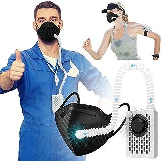Rsenr Purificador de aire eléctrico multifuncional, reutilizable, 3 modos de ventilador, purificador de aire con filtro HE...