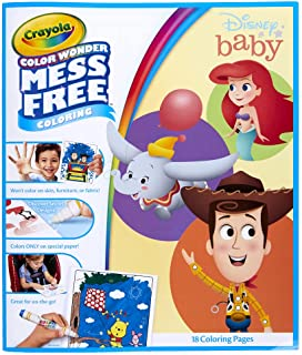 Crayola Color Wonder Disney Baby Characters, Mess Free Coloring Pages & Markers, Gift for Kids, Age 3, 4, 5, 6
