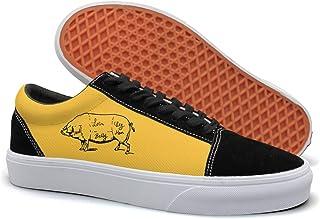 VCERTHDF Cuts Of Pork Butcher Fashion Flat Shoe Men