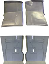 Motor City Sheet Metal - Works With 1973-91 Front & Rear Floor Pan Set Fits Chevy GMC Suburban Blazer Jimmy 4PC. SET