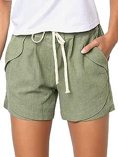 Shorts da Donna Chino Estate Hot Pants Capri Pantaloni corti pantaloni tessuto BERMUDA 38 a 46